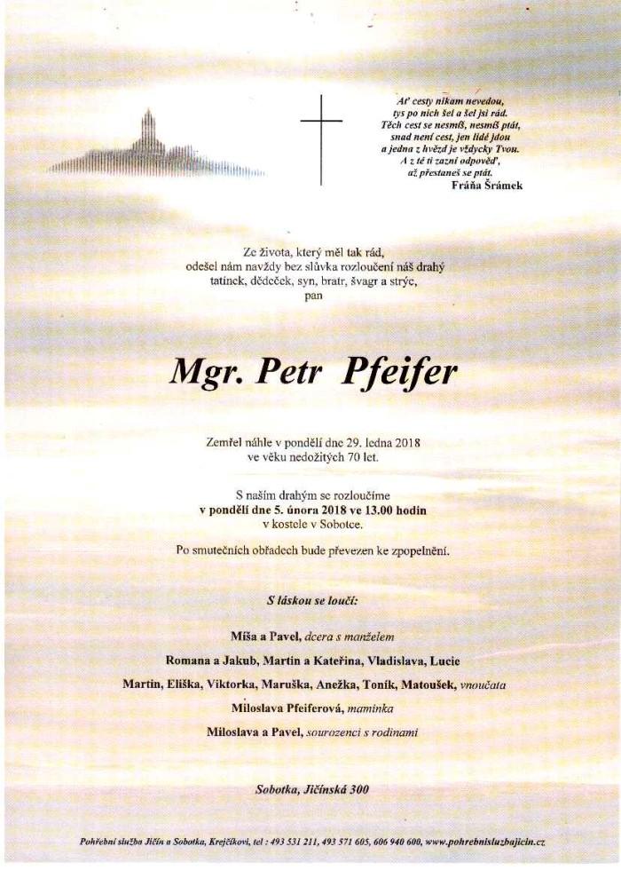 Mgr. Petr Pfeifer