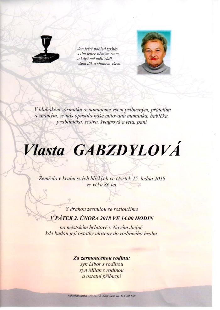 Vlasta Gabzdylová