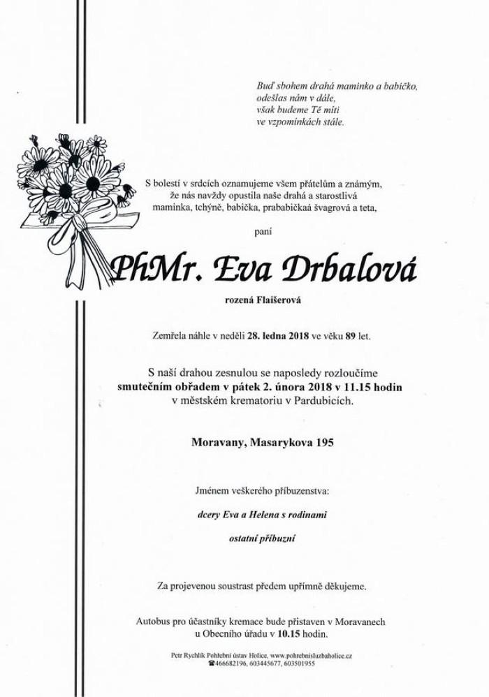 PhMr. Eva Drbalová