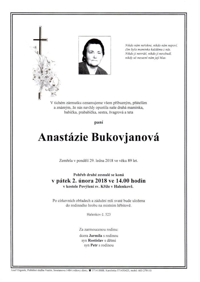 Anastázie Bukovjanová