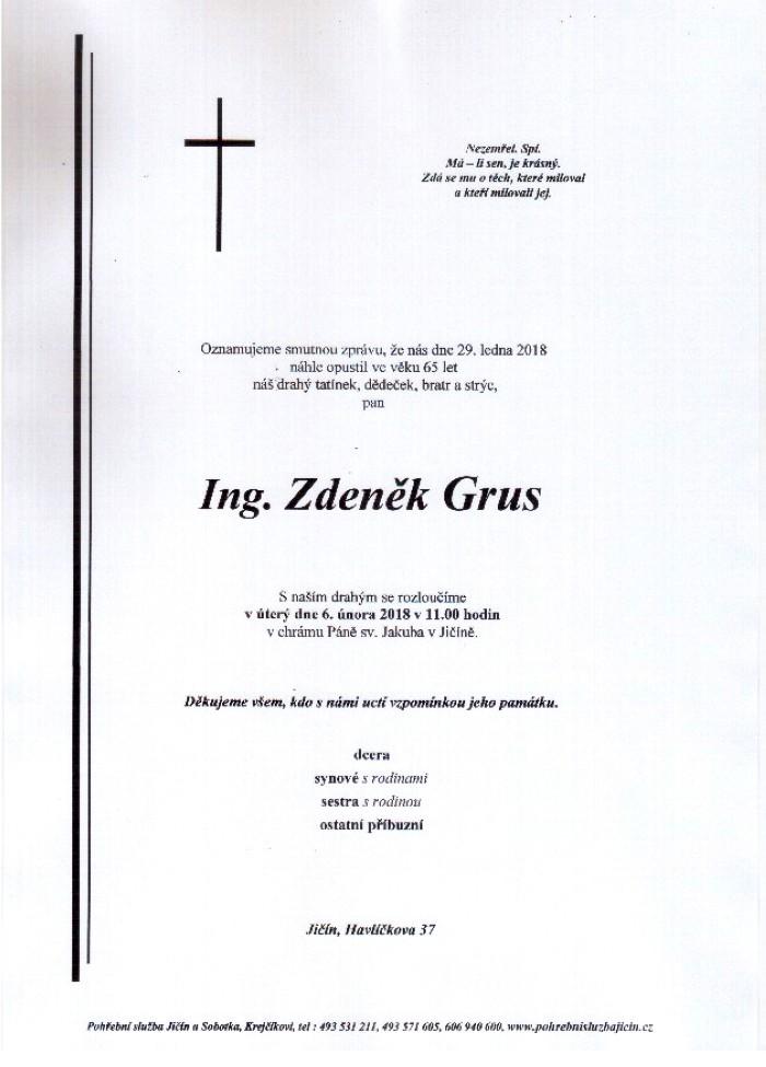 Ing. Zdeněk Grus
