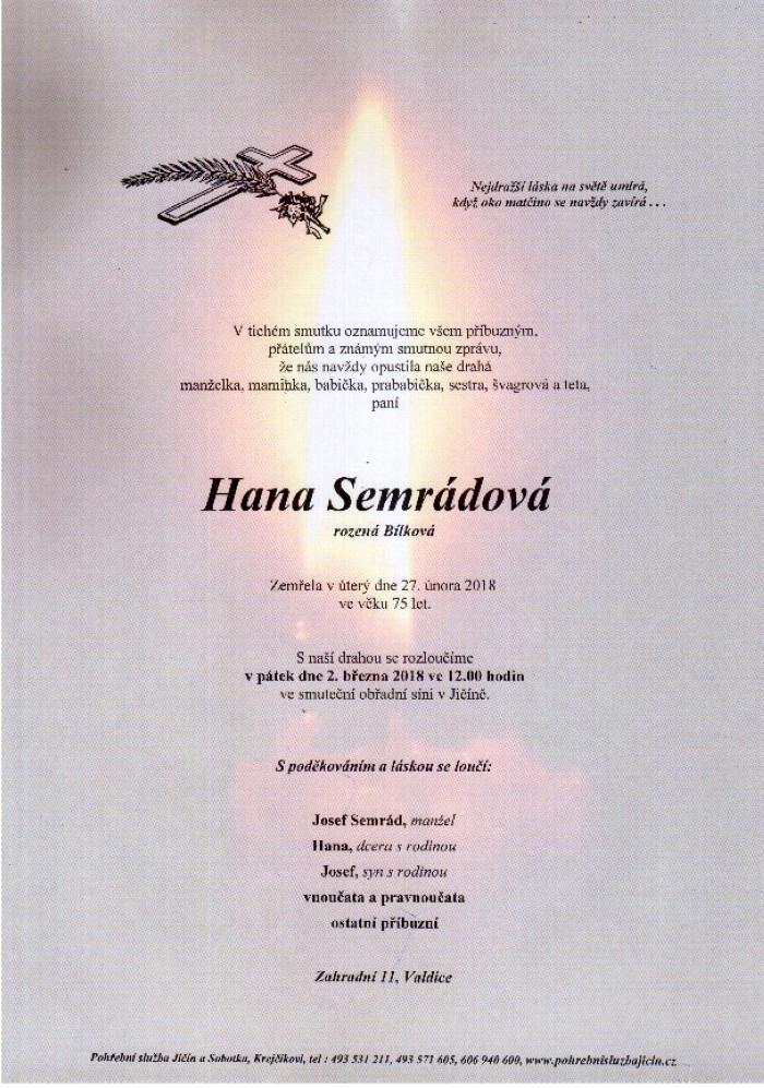 Hana Semrádová