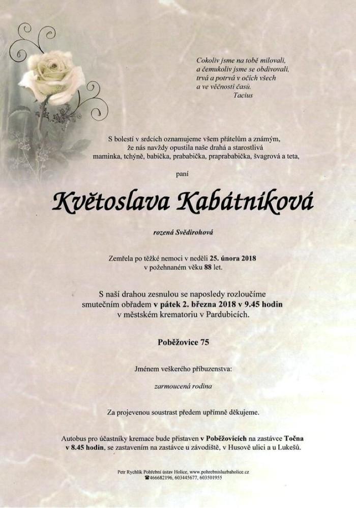Květoslava Kabátníková