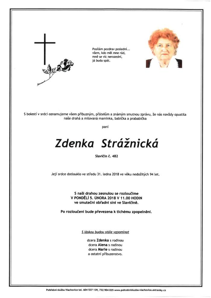 Zdenka Strážnická