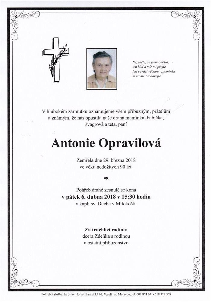 Antonie Opravilová