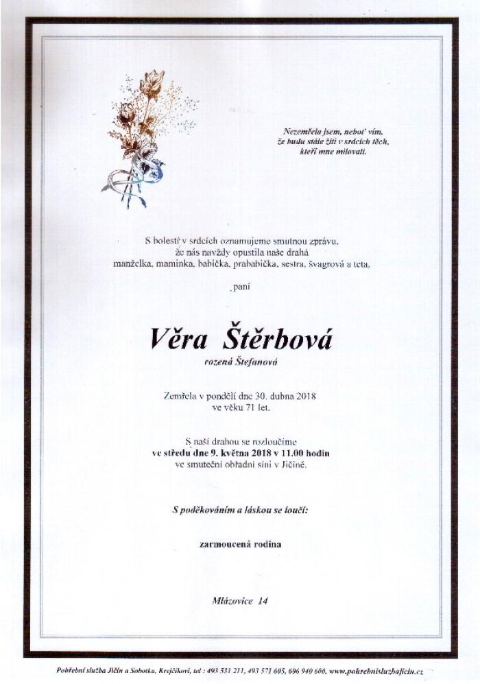 Věra Štěrbová
