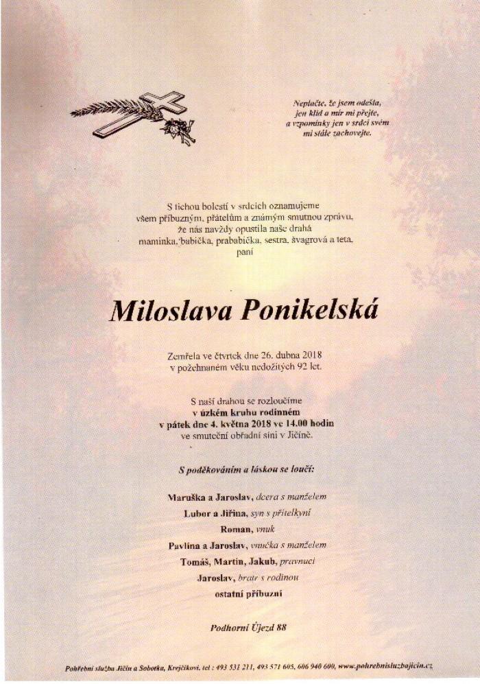 Miloslava Ponikelská