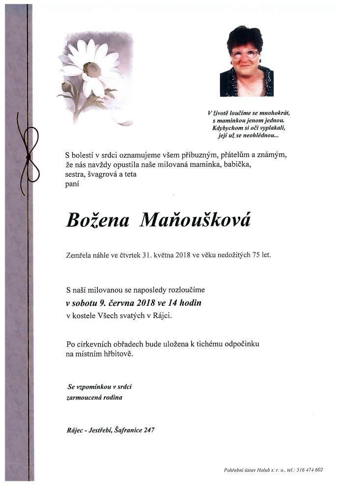 Božena Maňoušková