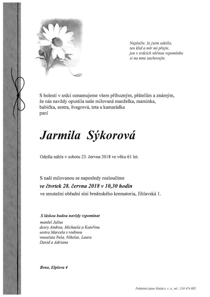 Jarmila Sýkorová