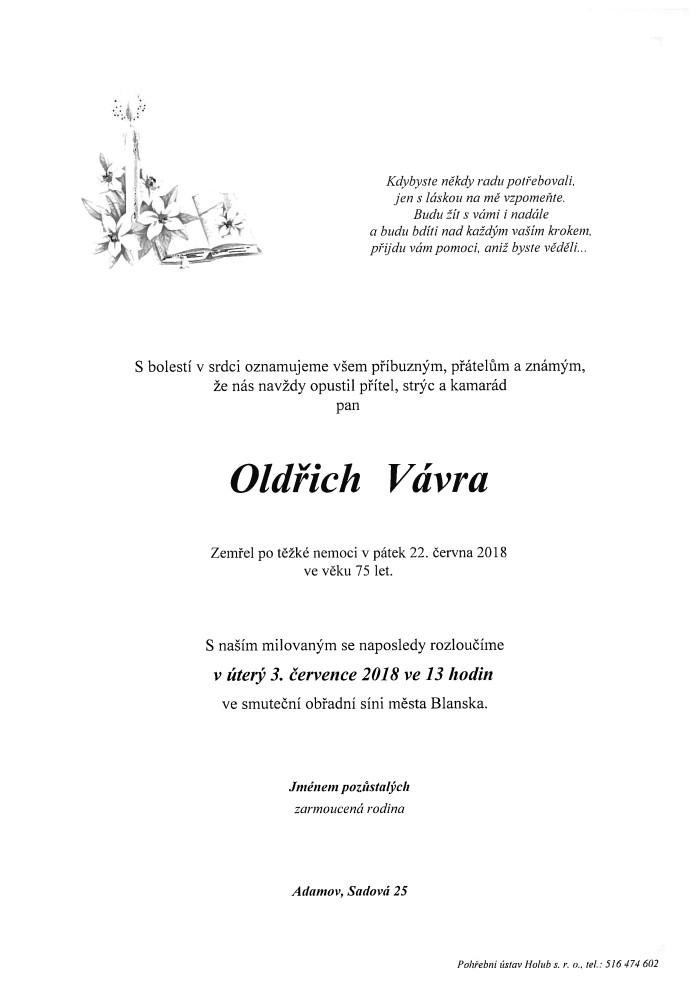 Oldřich Vávra