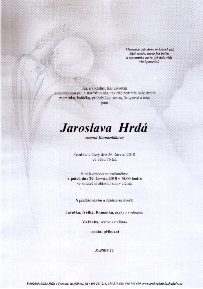 Jaroslava Hrdá