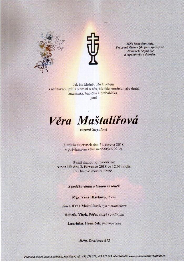 Věra Maštalířová