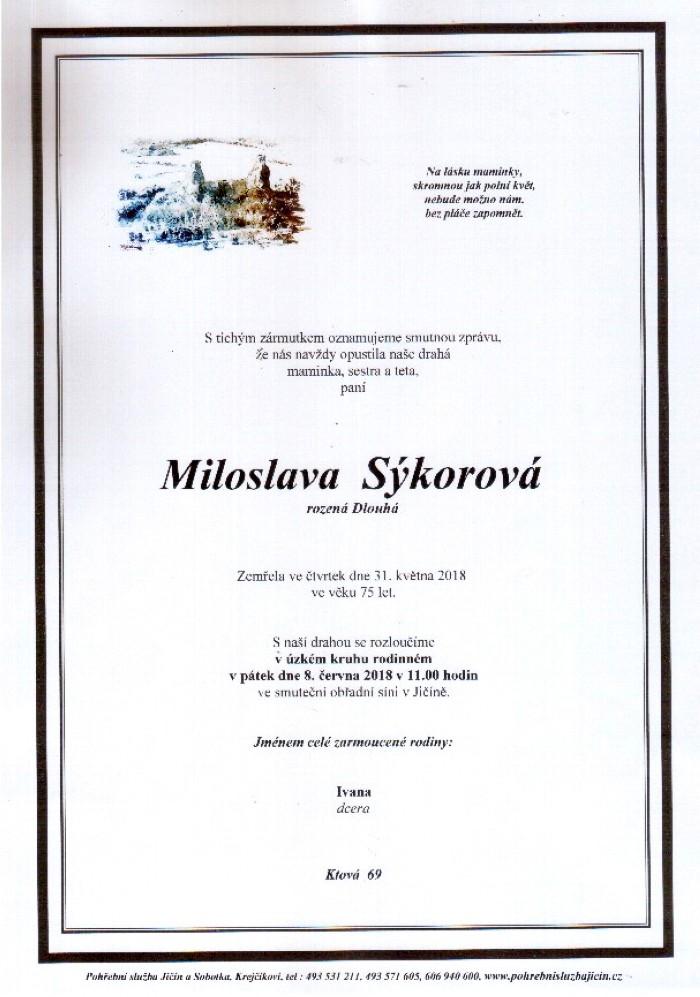 Miloslava Sýkorová