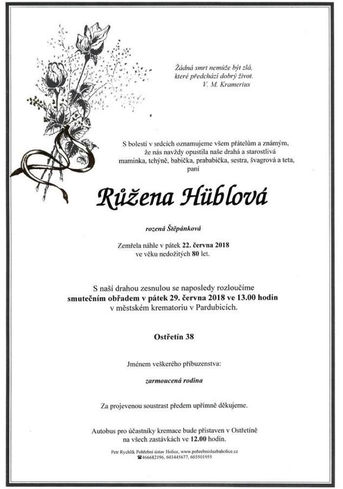 Růžena Hüblová