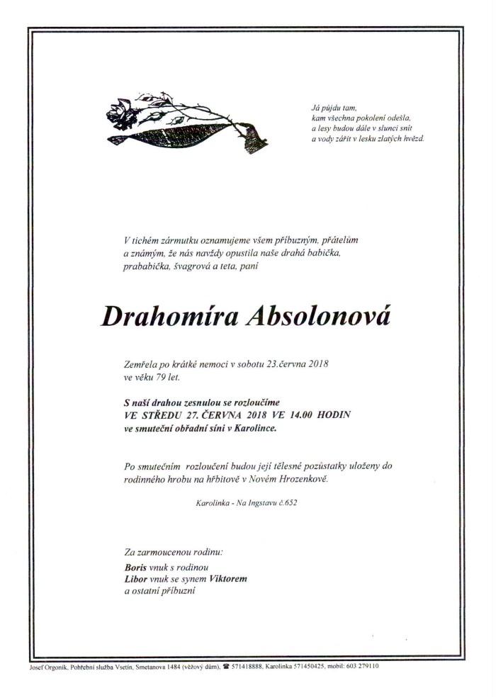 Drahomíra Absolonová