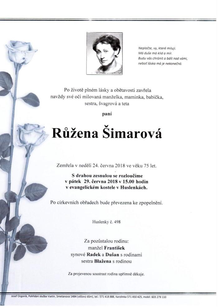 Růžena Šimarová