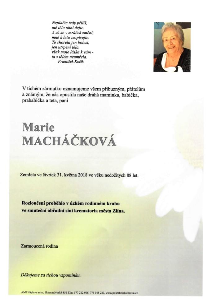 Marie Macháčková