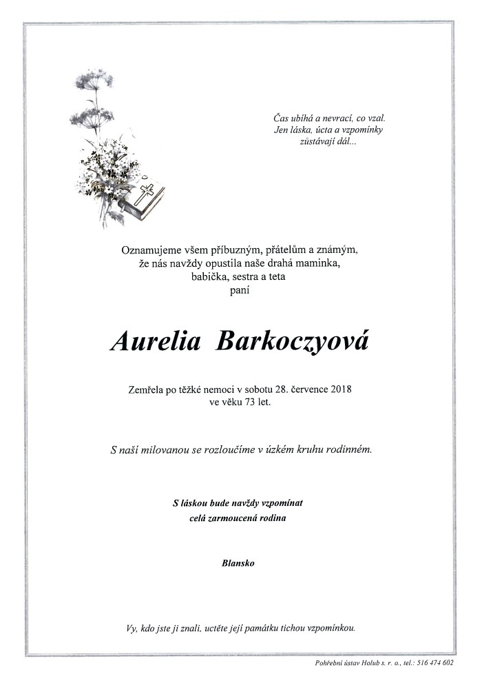 Aurelia Barkoczyová