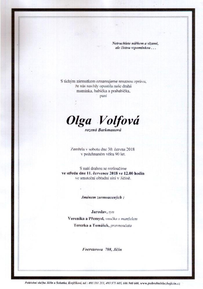 Olga Volfová