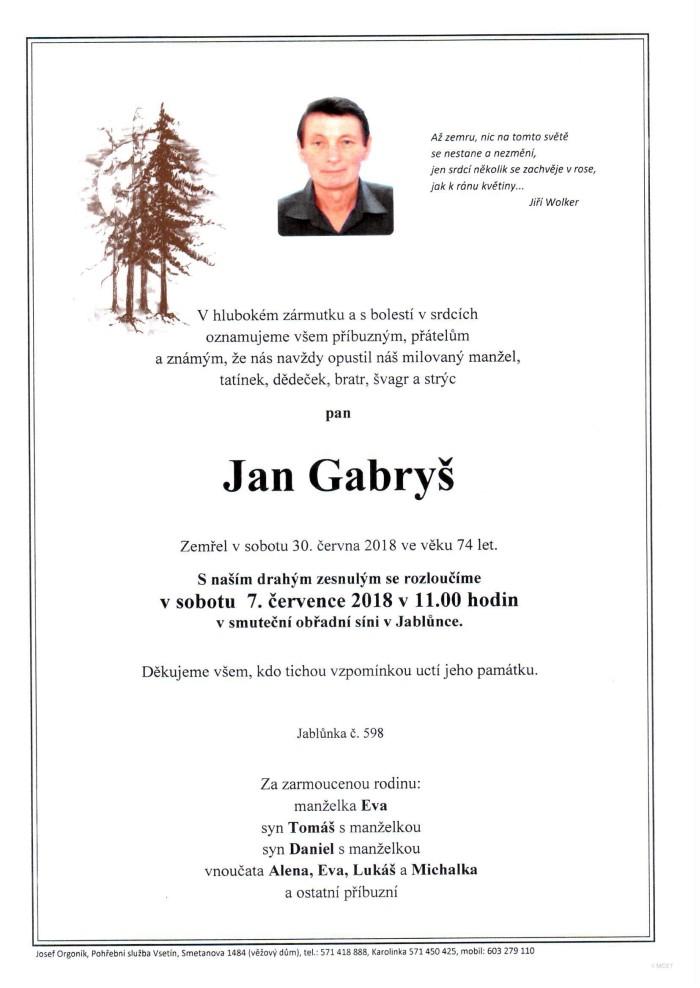 Jan Gabryš