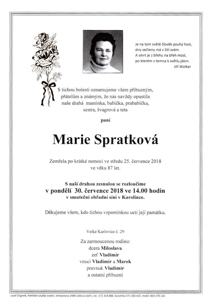 Marie Spratková