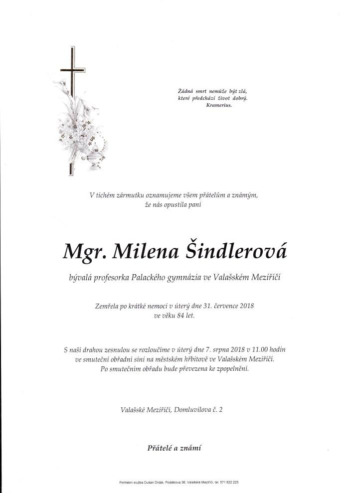 Mgr. Milena Šindlerová