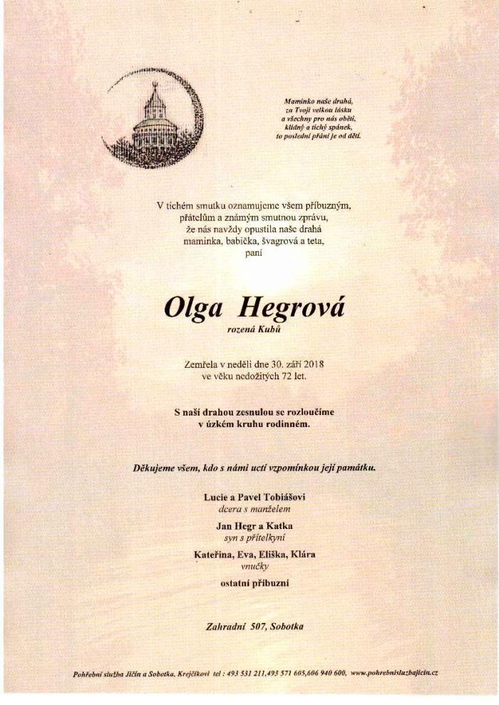 Olga Hegrová