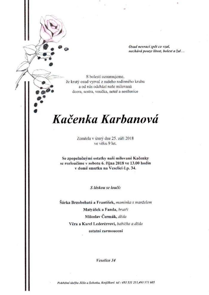 Kačenka Karbanová