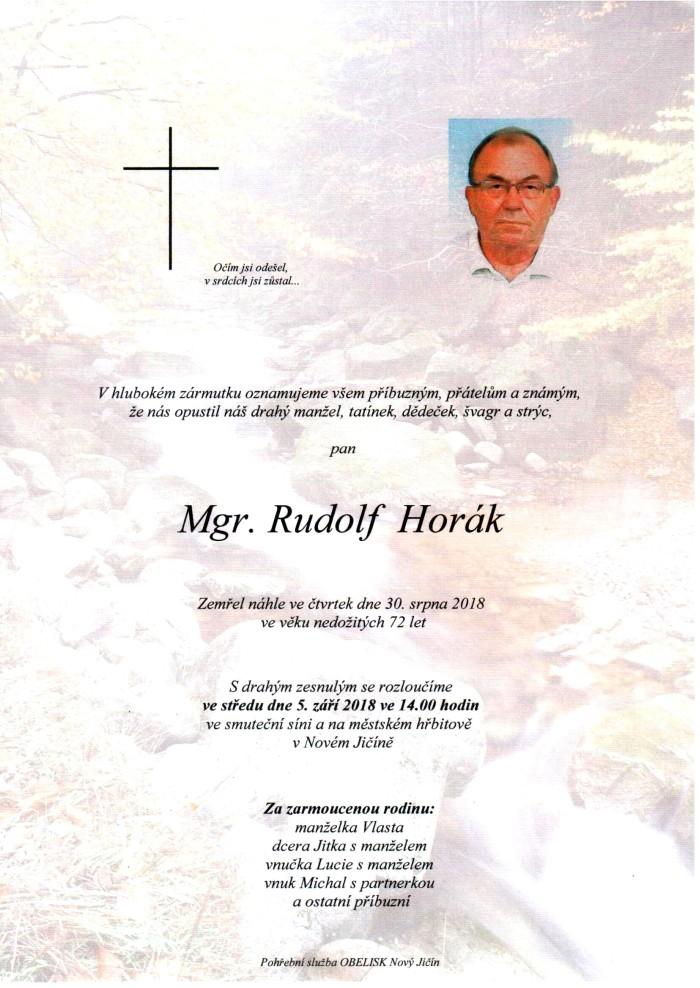 Mgr. Rudolf Horák