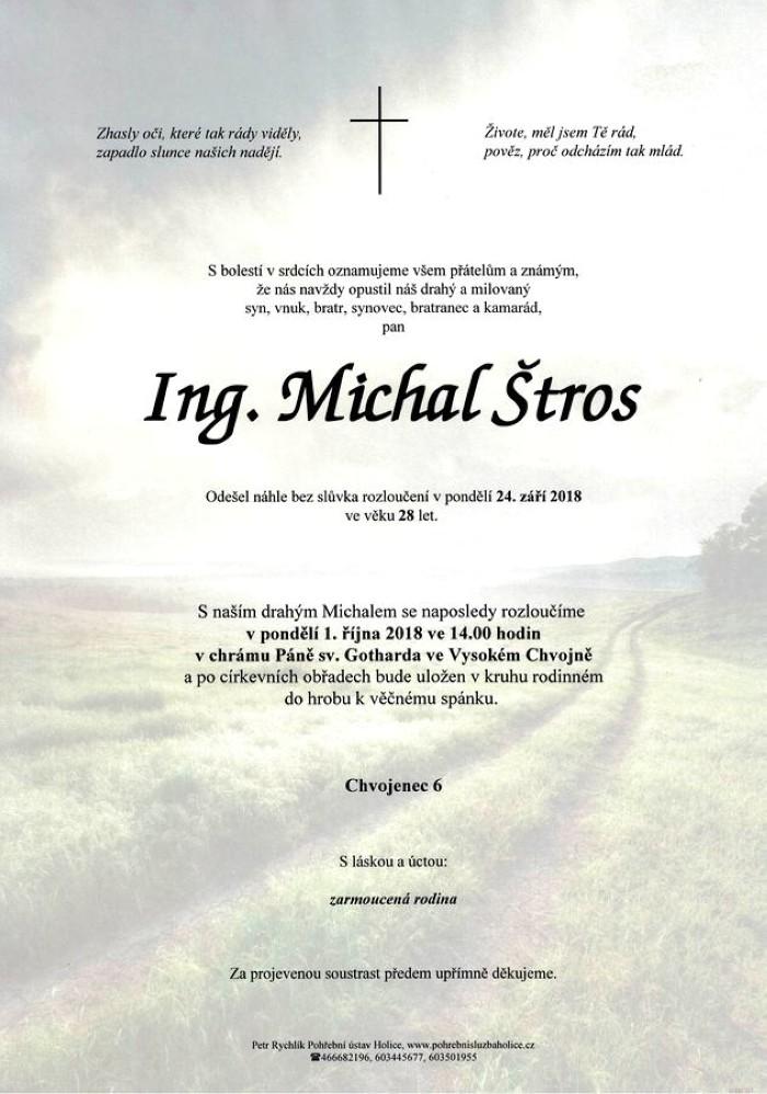Ing. Michal Štros