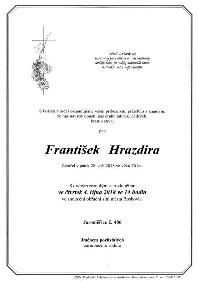 František Hrazdira
