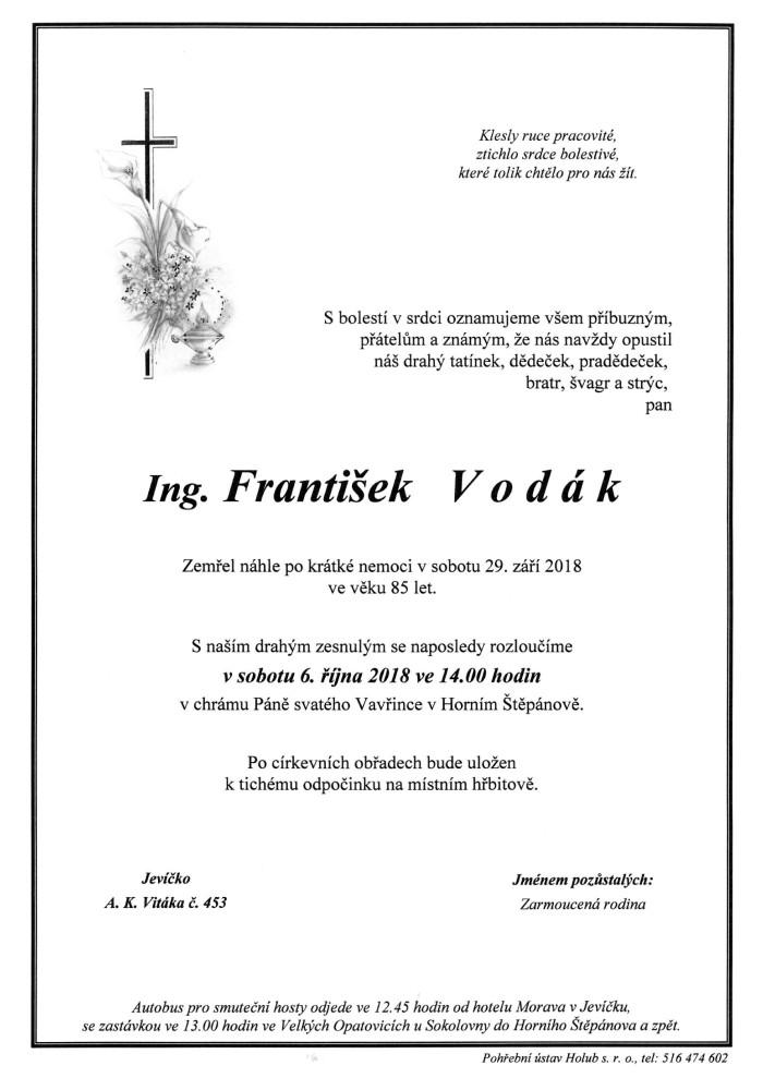Ing. František Vodák