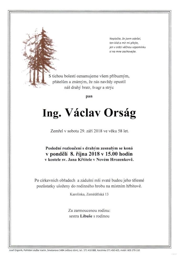 Ing. Václav Orság