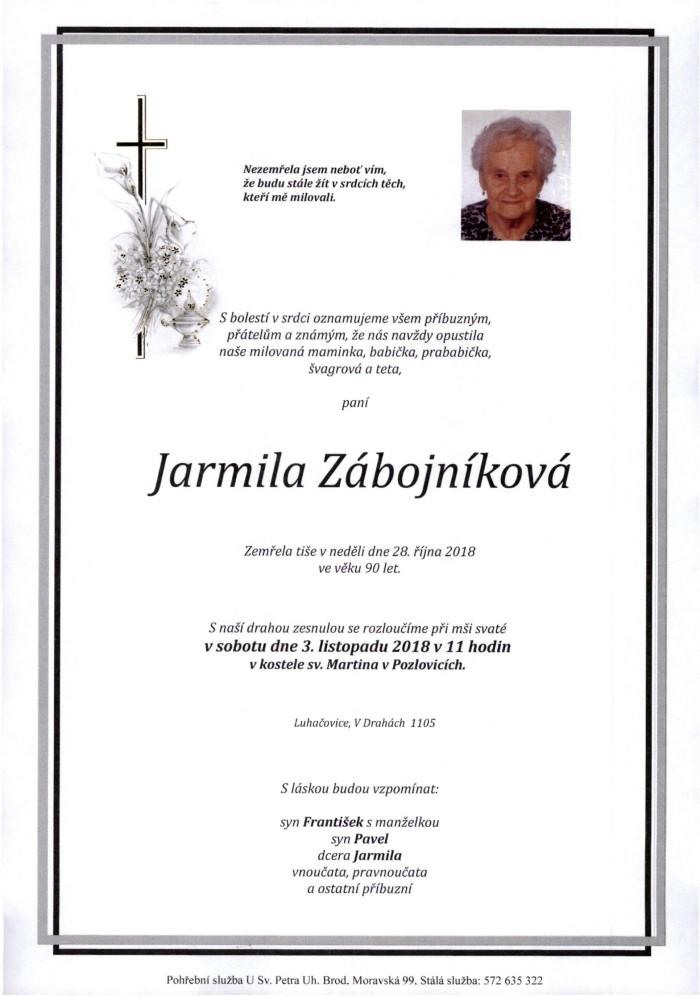 Jarmila Zábojníková