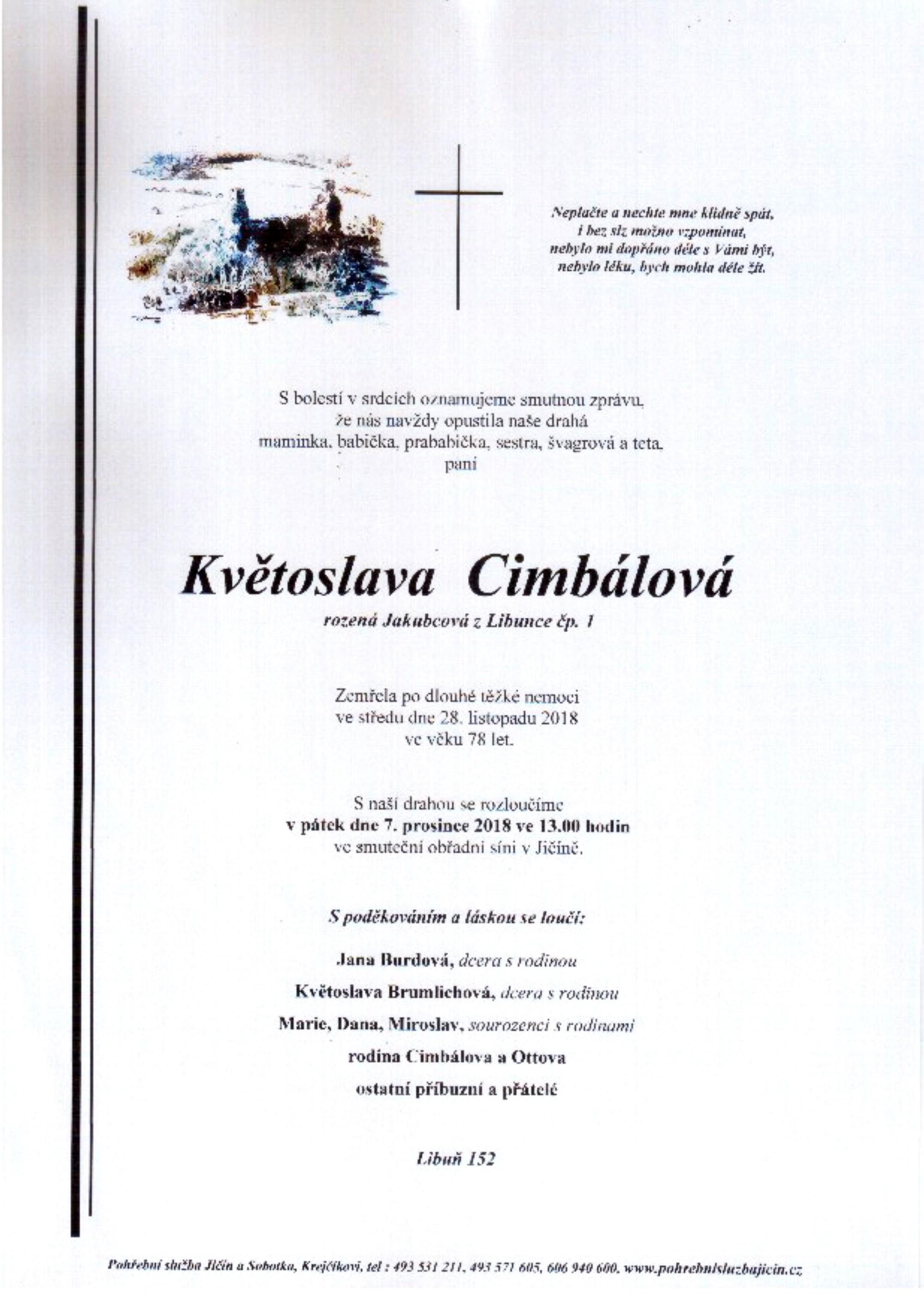 Květoslava Cimbálová
