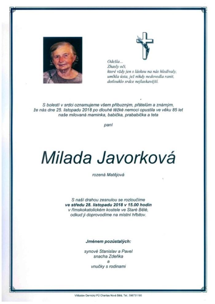 Milada Javorková