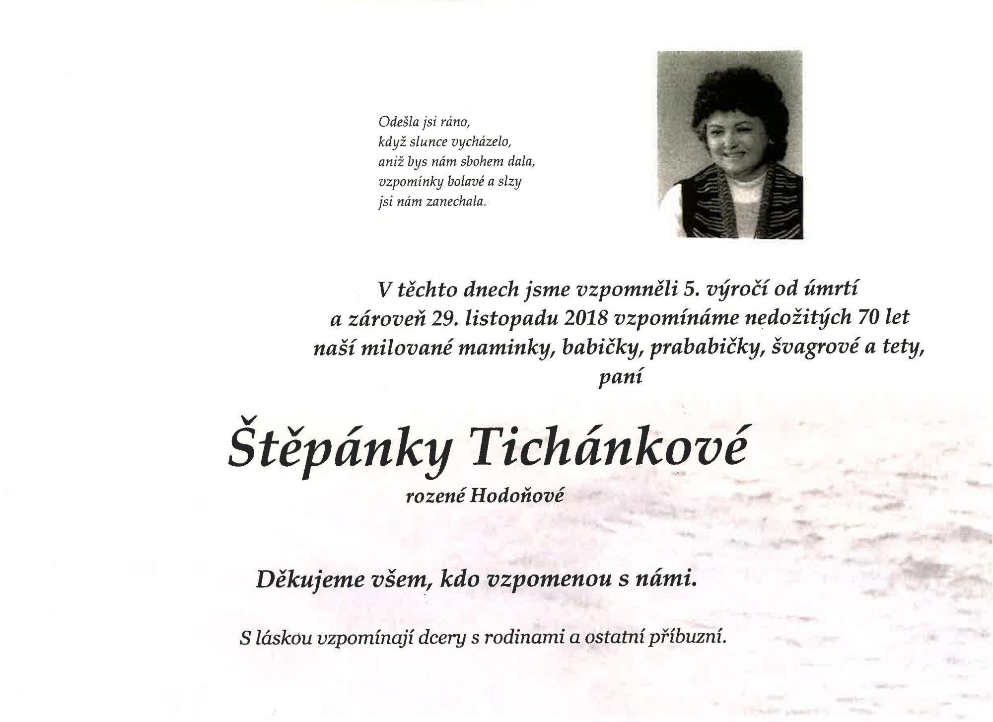 Štěpánka Tichánková