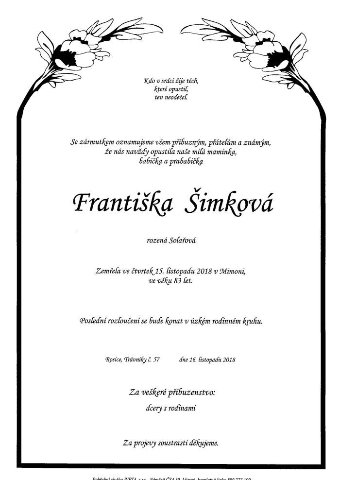 Františka Šimková