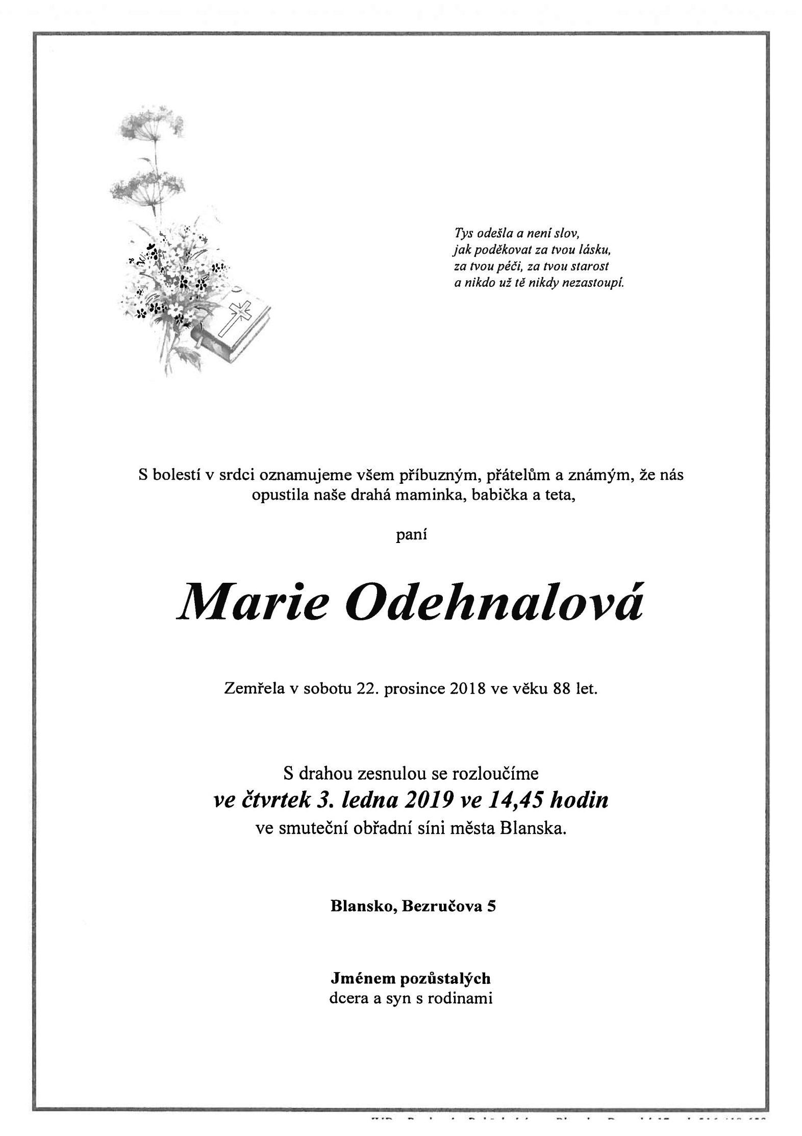 Marie Odehnalová
