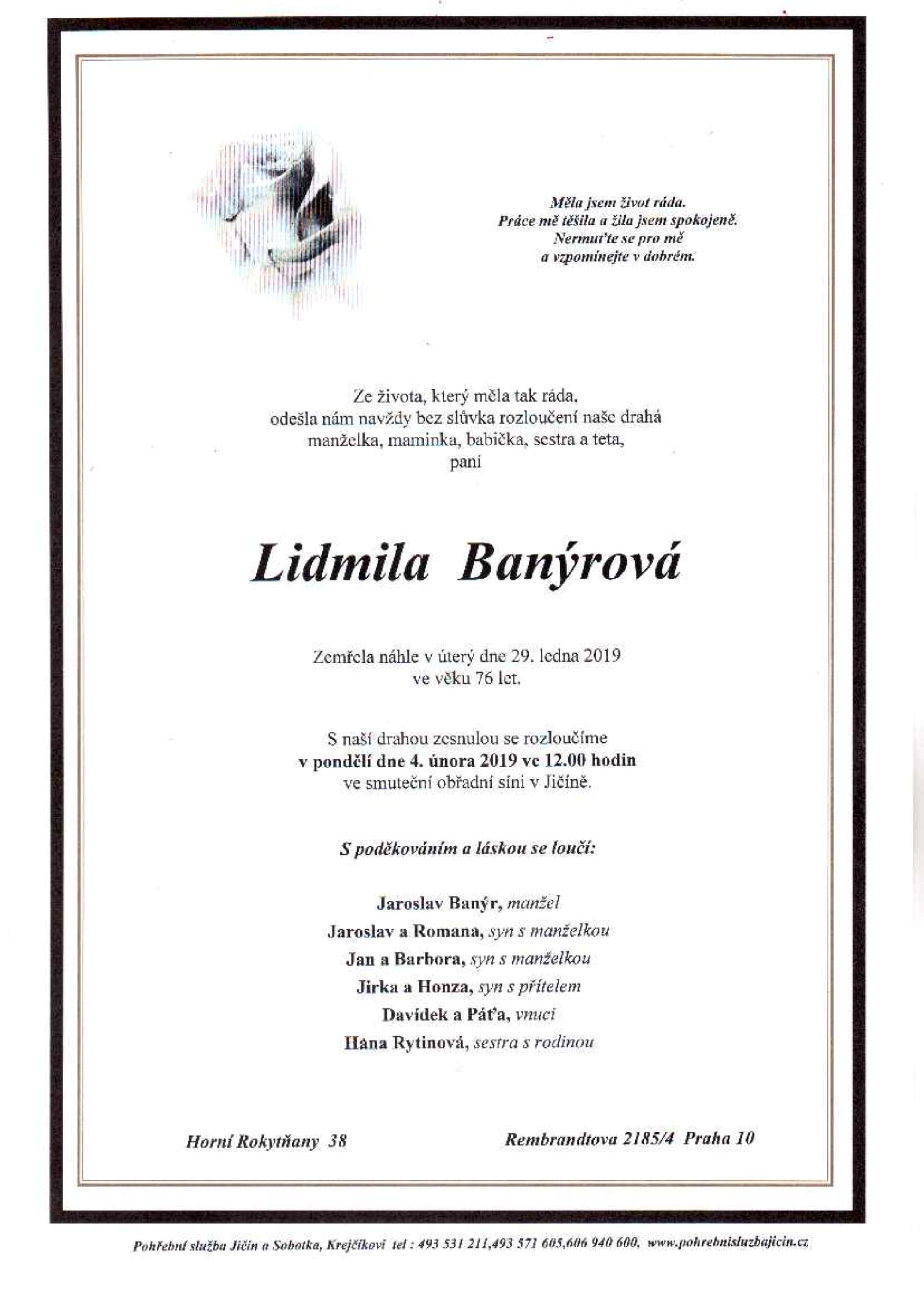 Lidmila Banýrová