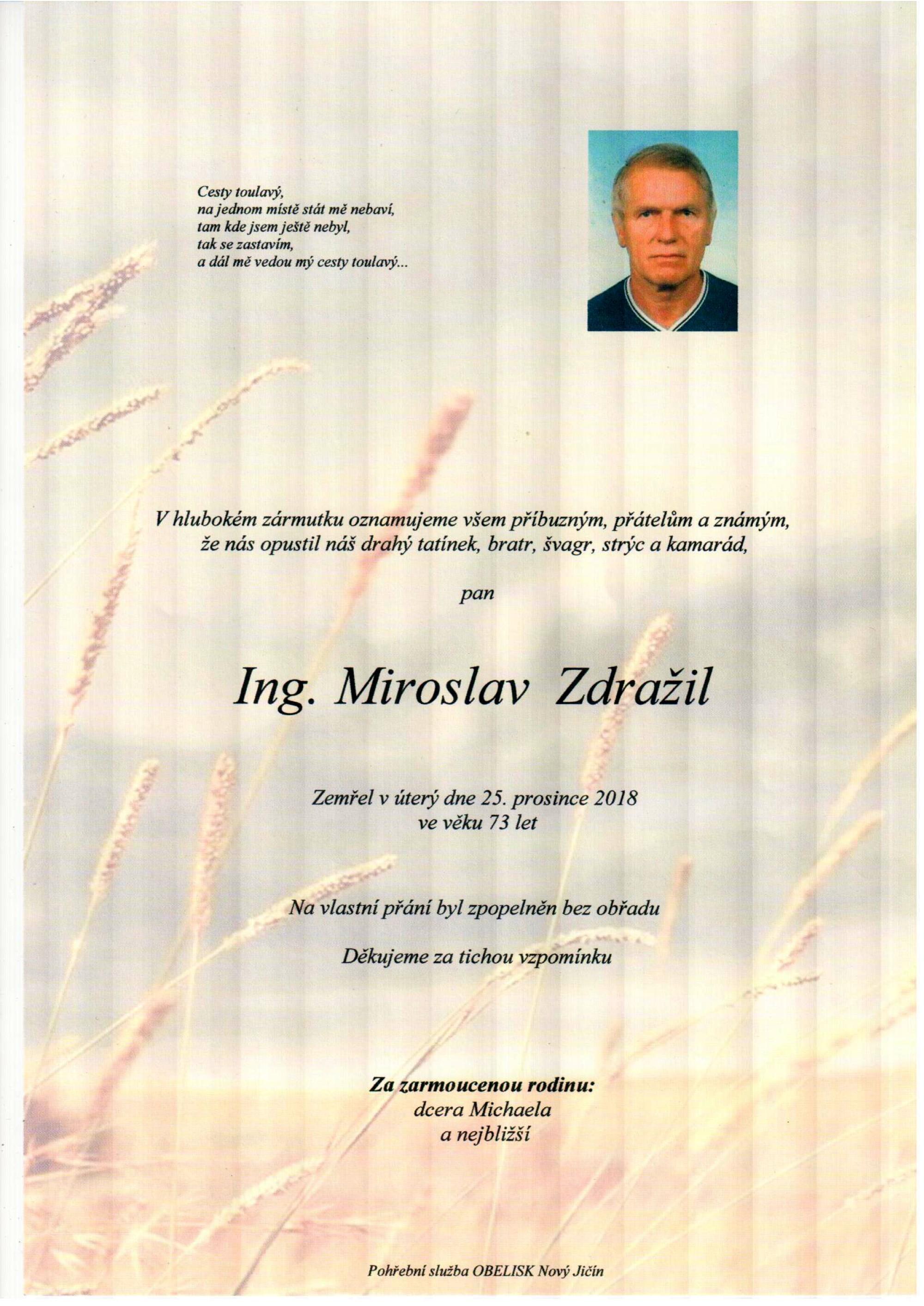 Ing. Miroslav Zdražil