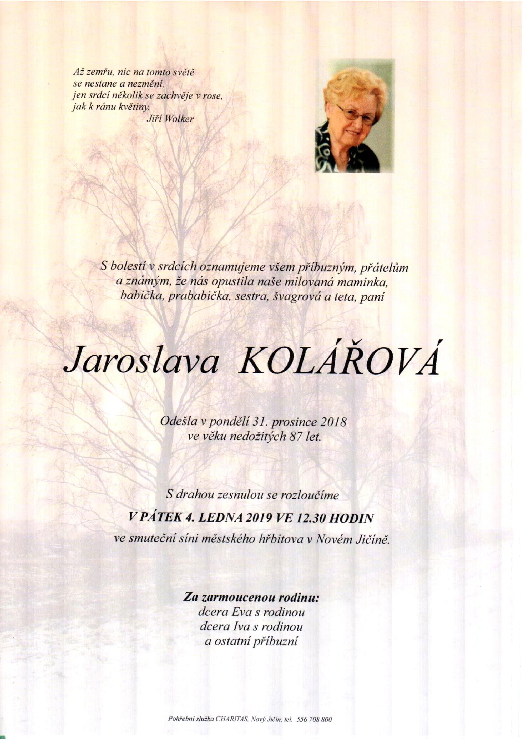 Jaroslava Kolářová