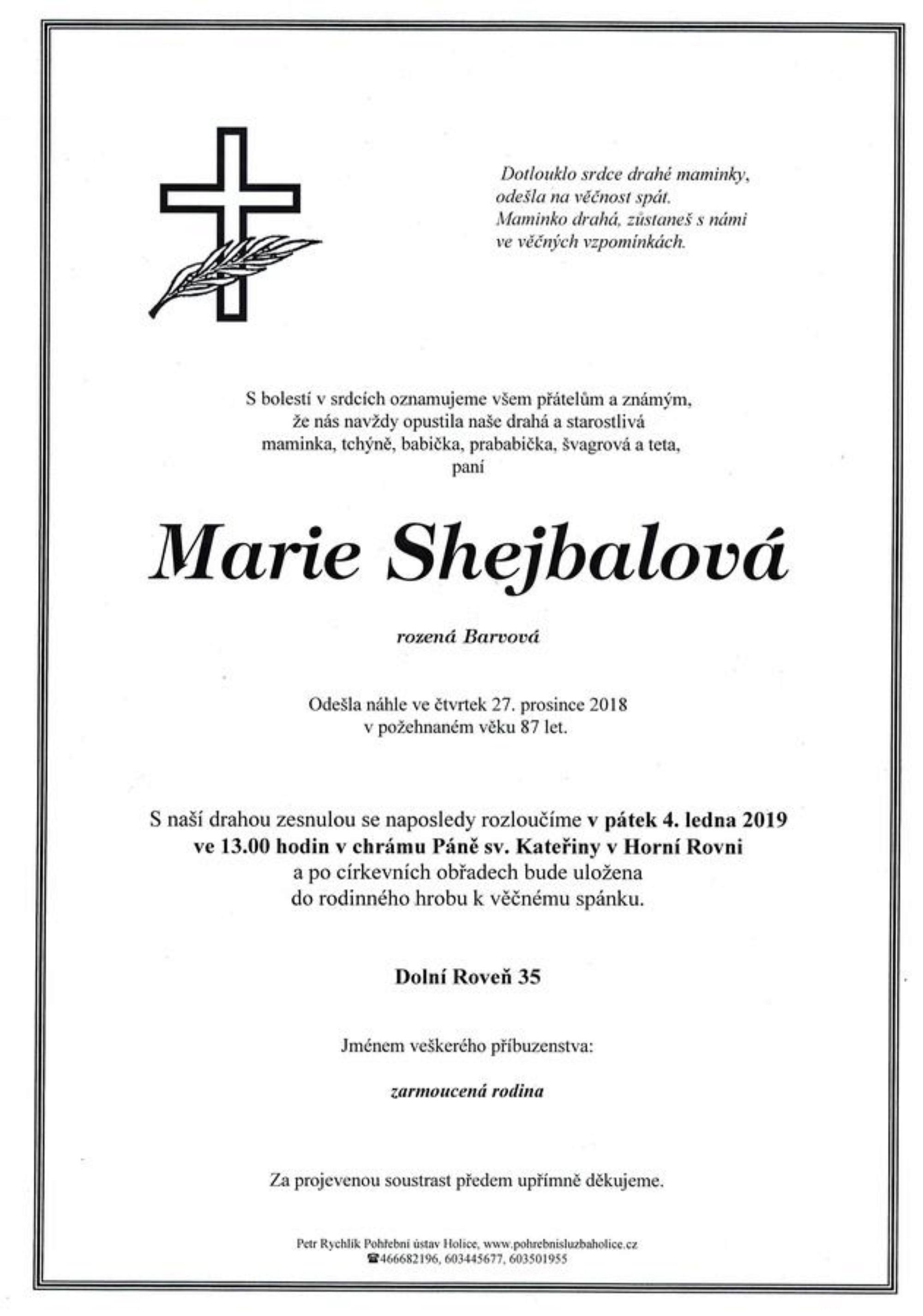 Marie Shejbalová