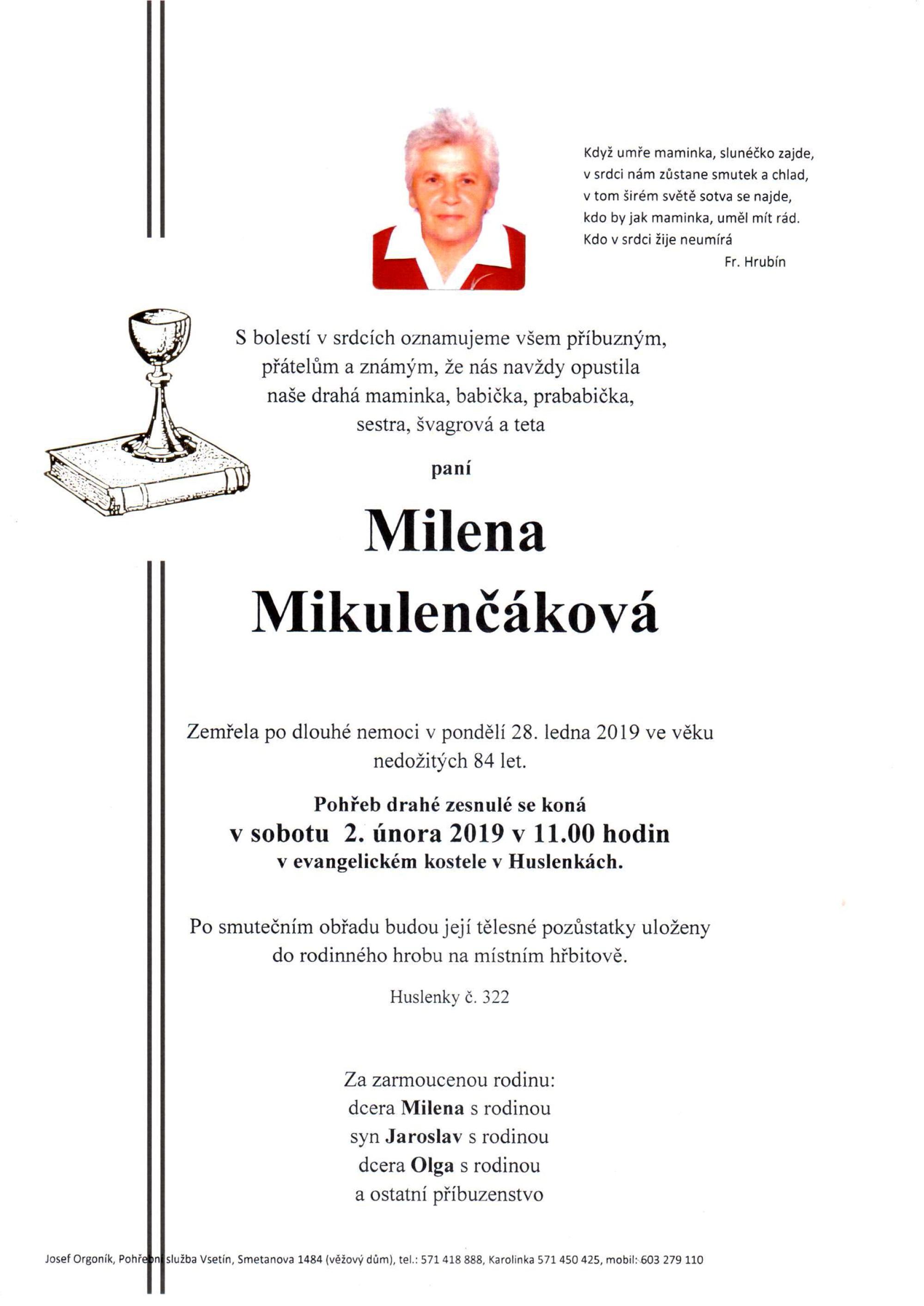 Milena Mikulenčáková