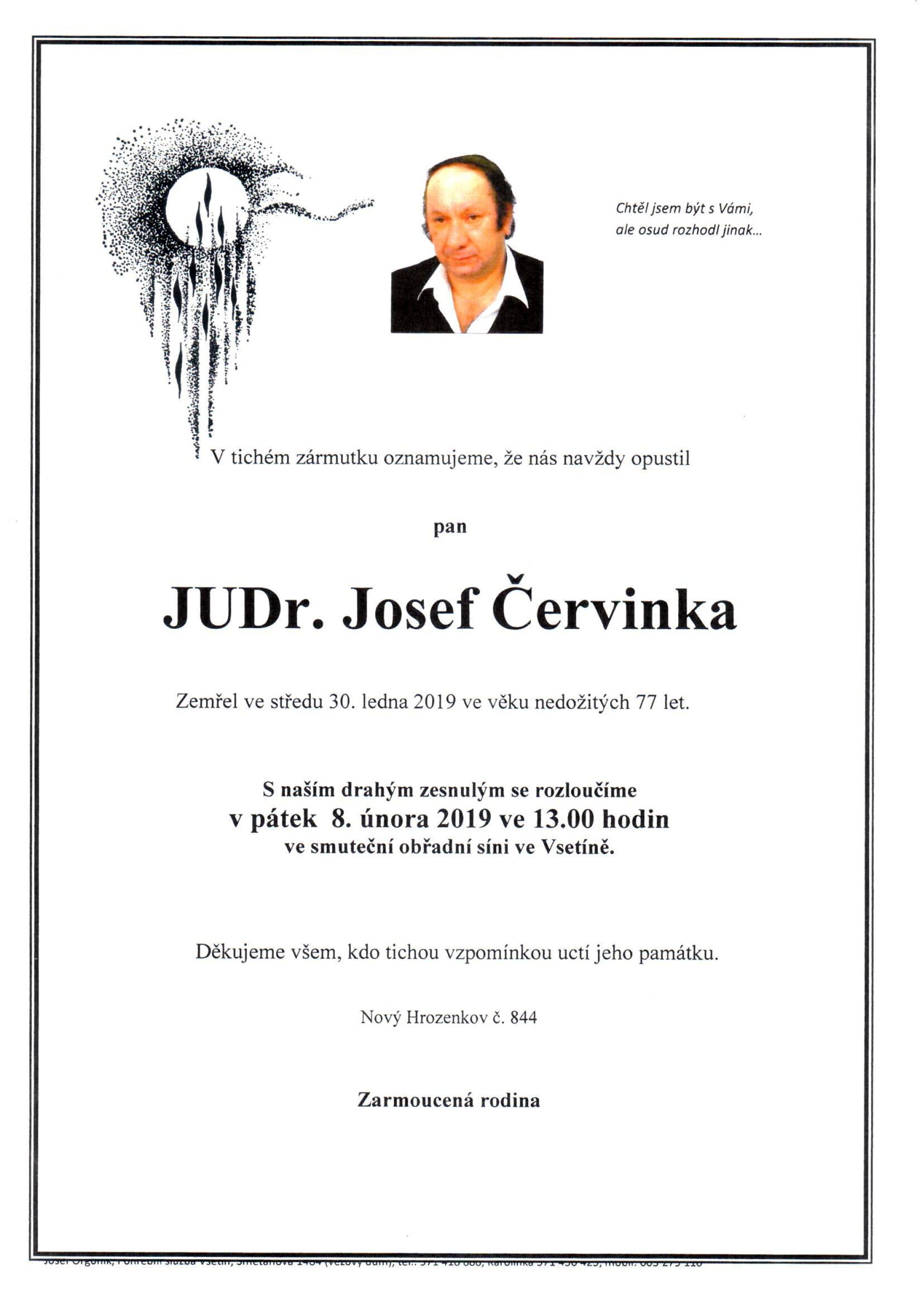 JUDr. Josef Červinka