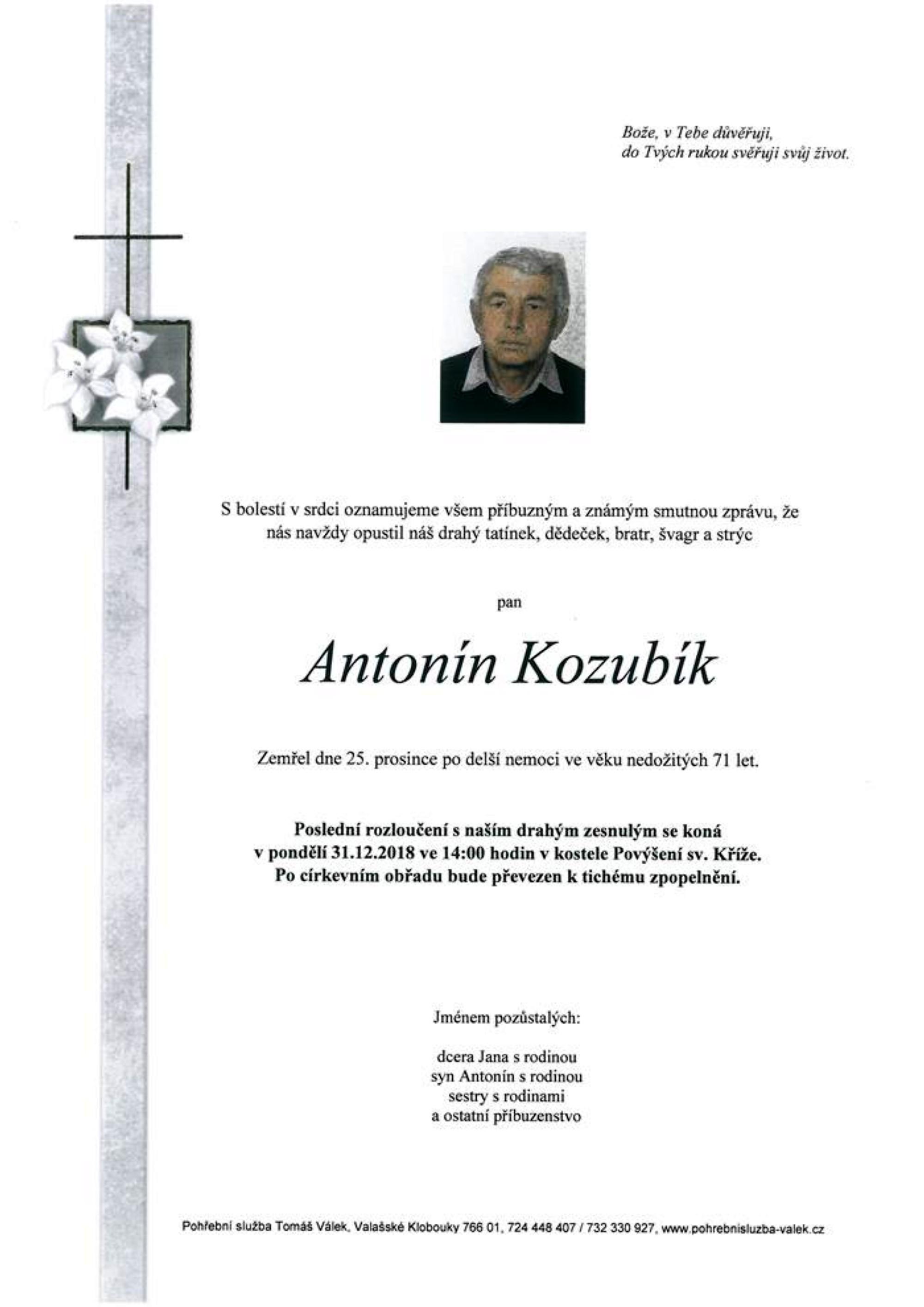 Antonín Kozubík