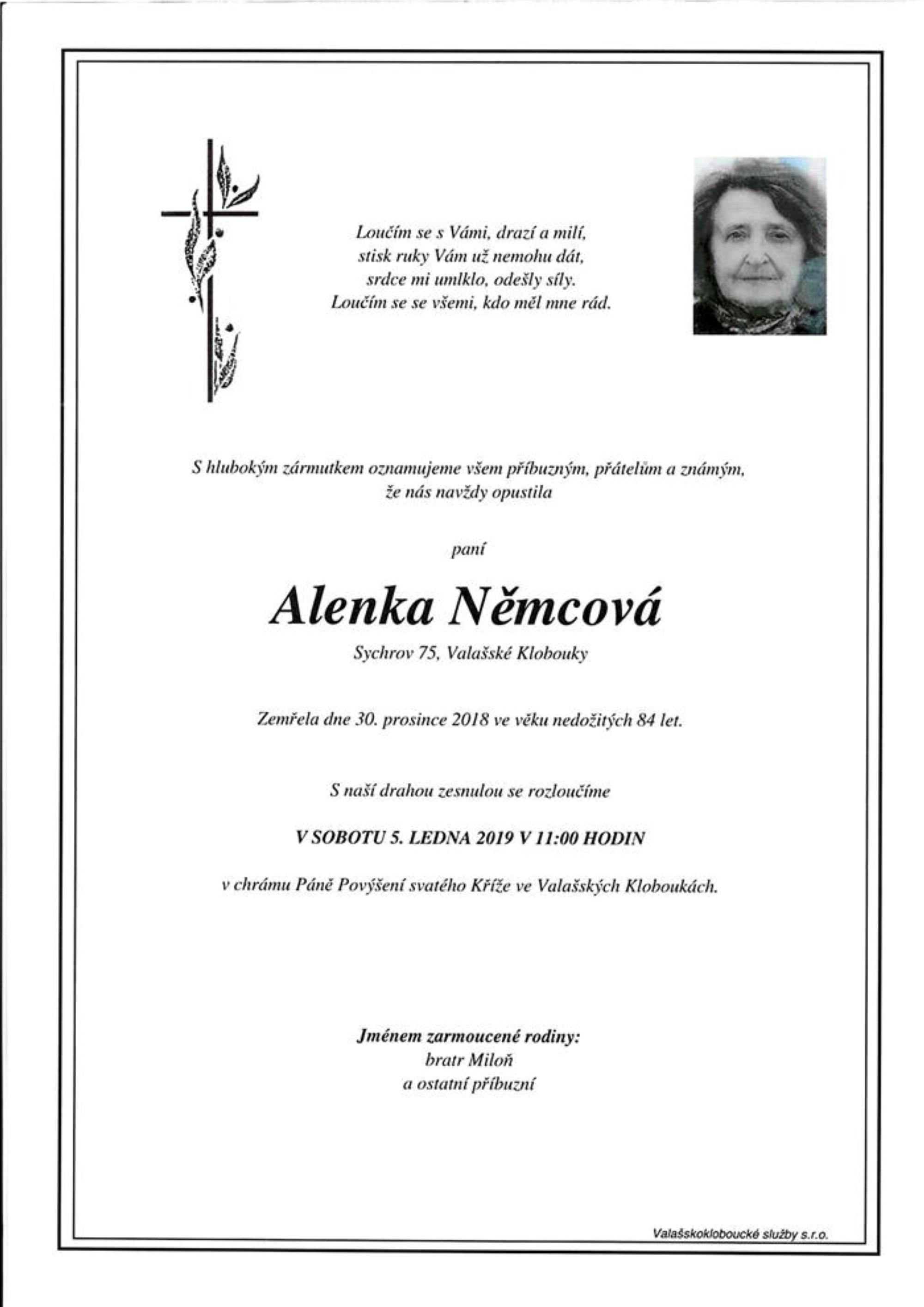 Alenka Němcová