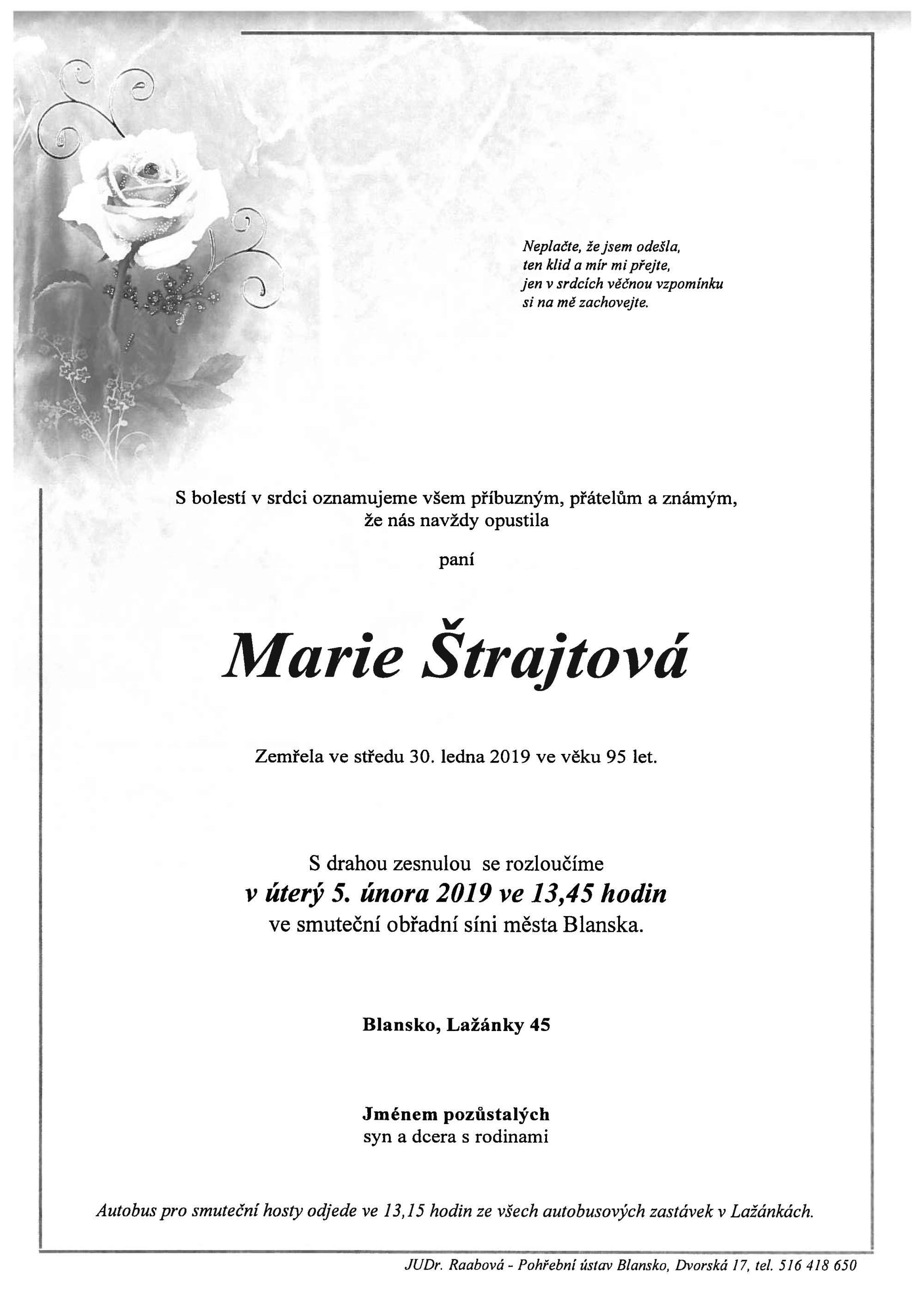 Marie Štrajtová