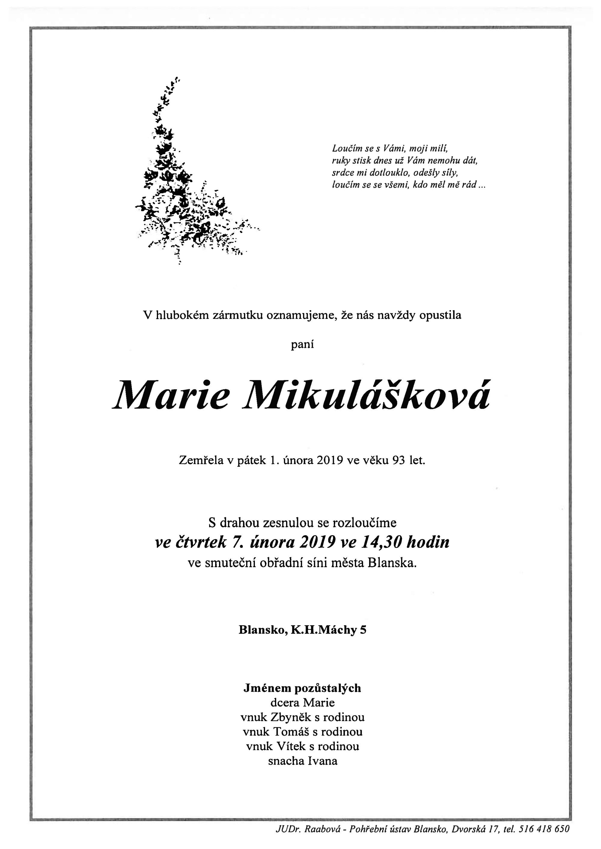 Marie Mikulášková
