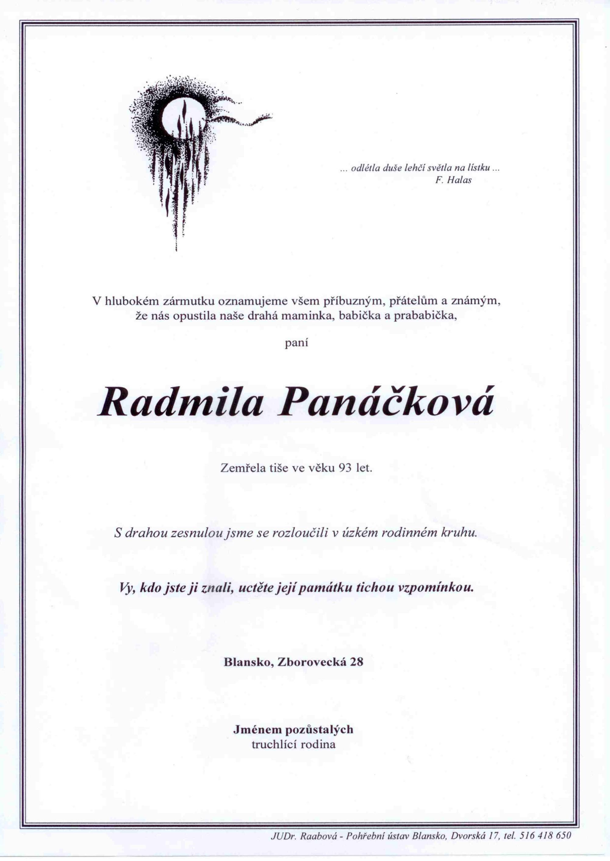 Radmila Panáčková